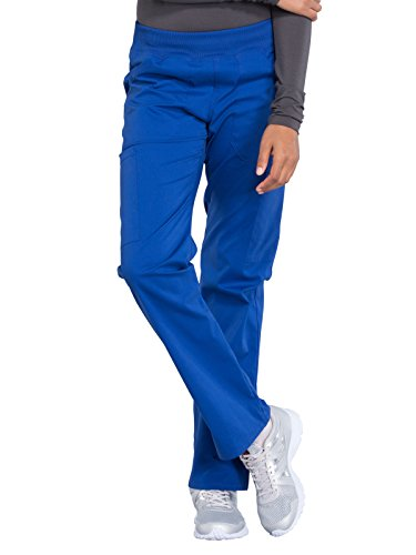 Cherokee WW Professionals WW170 Mid Rise Straight Leg Pull-On Pant Galaxy Blue S Tall (Rise Straight Leg Trousers)