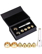 Brass Trumpet Mouthpiece Set 1-1/2C 3C 5C 7C 2b 2C 3b 3C Gold Plated Mouth Pieces Cups Trompette Replacement Parts Rich Tone Brass Wind Musical Instruments Accessories (Set2: 2b 2C 3b 3C)