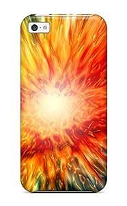 New Premium Flip Case Cover Color Splash Skin Case For Iphone 5c