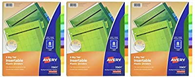 Avery Big Tab Insertable Plastic Dividers