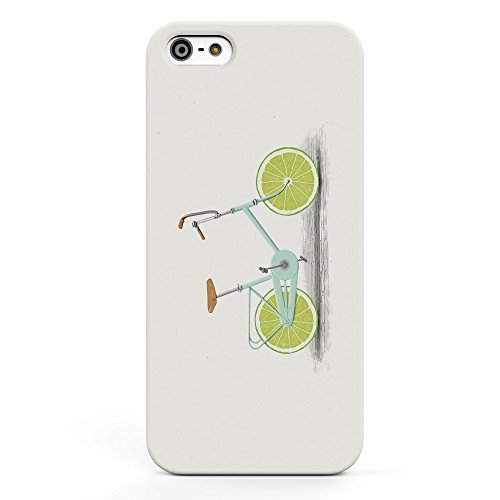 Koveru Back Cover Case for Apple iPhone 5S - Lemon Bicycle