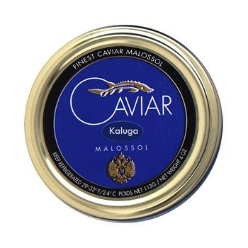 Kaluga Caviar also known as River Beluga Caviar 'Malossol' – 4 oz/113 gr.