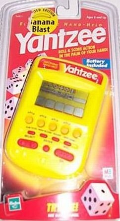 (YAHTZEE Electronic Handheld Game (SPECIAL EDITION YELLOW BANANA BLAST/ Includes Instructions))