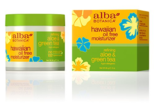 Alba Botanica Hawaiian, Aloe & Green Tea Oil-Free Moisturizer, 3 Ounce (Moisturizer Free Oil Tea)