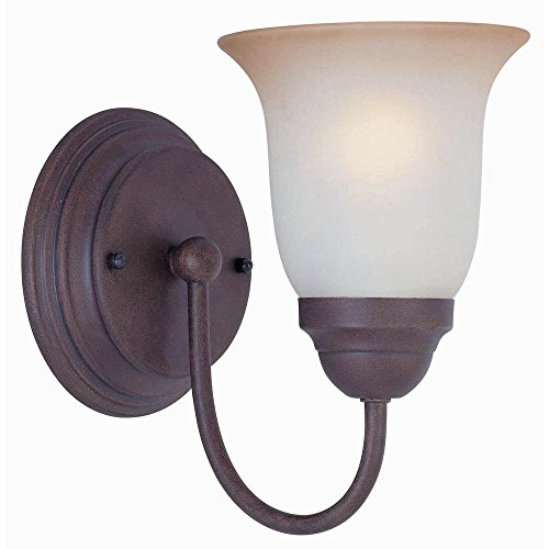 Commercial Electric 1-Light Nutmeg Sconce with Frosted Glass Shade EFH1311M