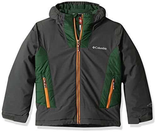 Columbia Little Boy's Wild ChildJacket, Small, Grill/Forest ()