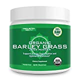Organic Barley Grass Juice Powder - Grown in Volcanic Soil of Utah - Raw & BioActive Form, Cold-Pressed Then CO2 Dried - Compliments Wheatgrass Juice Powder - 5.3 oz