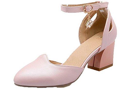 Sandales d'orteil Correct à VogueZone009 Talon Unie CCAFLP014763 Fermeture Femme Rose Couleur q8n4RP