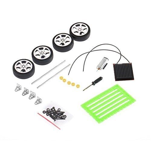 Fashionclubs 4pcs//set Children DIY Assemble Solar Power Car Toy Kit Science Educational Gadget Hobby