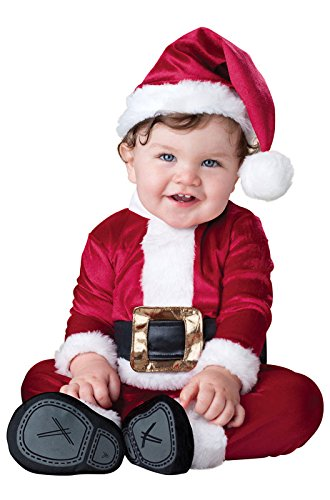 InCharacter Costumes Baby's Baby Santa Costume, Red/White, Large (18-24 Months)]()