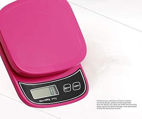 Cucsaist Básculas de Cocina Básculas electrónicas Básculas Digitales Básculas de nutrición Básculas para Hornear en el hogar 5 kg / 1 g: Amazon.es