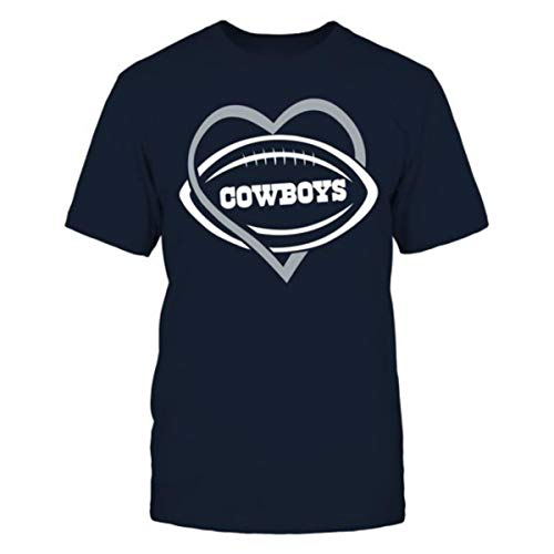 I Love Dallas City Football Shirt (L) by Sports Lover