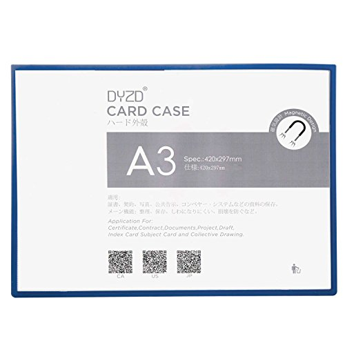 DYZD Magnetic Sign Holder Magnet Plus Certificate Holders Document Covers, Holds 16.53