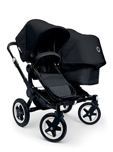 Bugaboo 2015 Donkey Duo Stroller Complete Set in Black on Black by Bugaboo