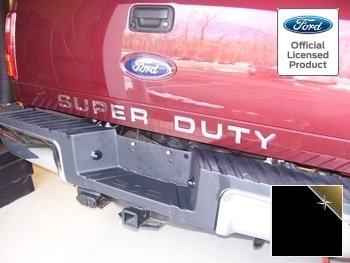 Ford Super Duty Letter Inserts (Thin) for Tailgate (2008-2016) F250 F350 F450 Decals Stickers (Black Reflective - CB+R (Reflects Gold))