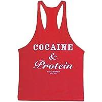 Flexz Fitness Cocaína y proteínas Singlet–Camiseta, Chaleco