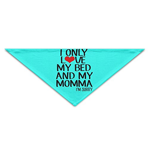 WuliWa45ggr Dog&Cat Bandana I Only Love My Bed And My Momma I'm Sorry Friend Pet Cat Dog Triangle Scarf by WuliWa45ggr