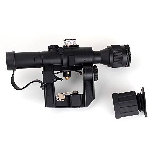 WINFREE 4x24 PSO-1 Type for Dragonov SVD Sniper AK Series (Airsoft Dragunov Scope Mount)