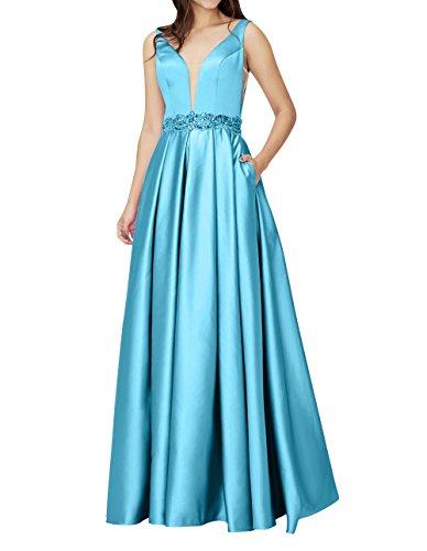 Blau Abendkleider Pailletten Satin Elegant A Guertel Jugendweihe Festlichkleider Ballkleider Lang Kleider mia La Linie Brau Partykleider mit wxXWTqan6I