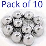 Pack of 10 7/8'' inch Diameter Carbon Steel Bearing Balls G40 Ball Bearings VXB Brand 0.875'' inch = 22.225mm Diameter