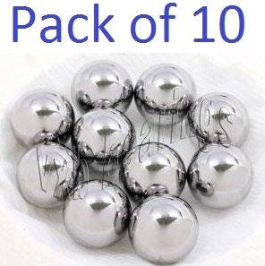 """Pack of 10 7/8"""" inch Diameter Carbon Steel Bearing Balls G40 Ball Bearings VXB Brand 0.875"""" inch = 22.225mm Diameter"""
