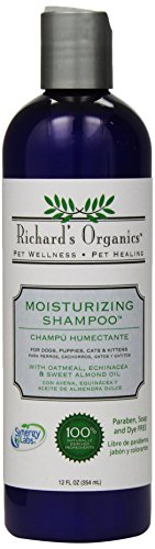 Richard's Organics Moisturizing Shampoo for Dogs - With Oatmeal, Echinacea, Sweet Almond Oil to Soothe and Protect Dry, Itchy, Inflamed Skin - Relief from Insect Bites and Irritations (12oz)