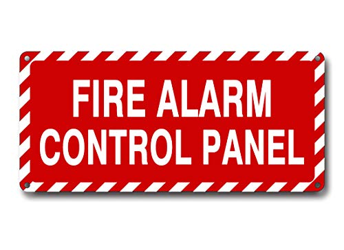 Fire Alarm Control Panel Sign 4.5 x 10 Inch 40 Mil Thick Aluminum Reflective Sign UV Protected Water Proof