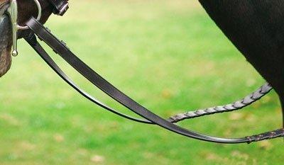 - Henri de Rivel Pro X-Long Flat Laced Rein Oakbark