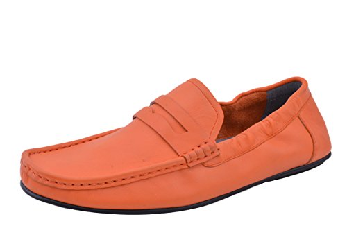 Insun , Chaussures bateau pour homme Orange