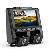TOGUARD Uber Dual Dash Cam Full HD 1080P+1080P Inside and Outside Car Camera Dash Cams 3' LCD 340° Dashboard Camera...