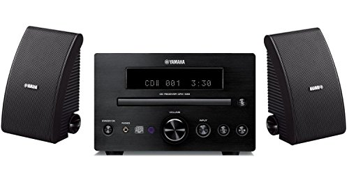 Yamaha CRX-332BL Micro Component Receiver & Yamaha NS-AW392BL All-Weather Speakers Bundle Best Selling