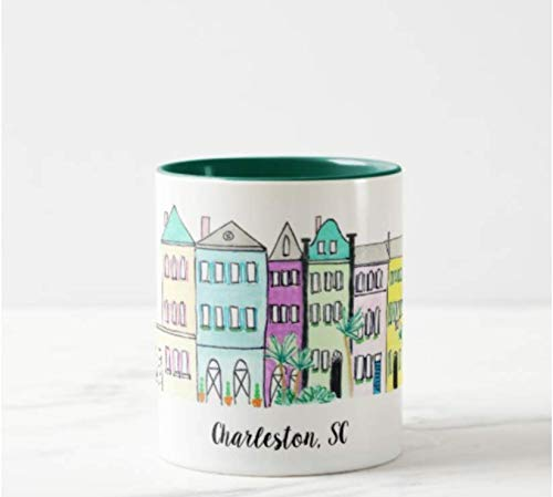 (Charleston Rainbow Row Coffee Mug)