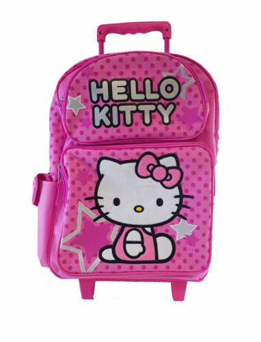 Hello Kitty Rolling BackPack - Sanrio Hello Kitty Large R...