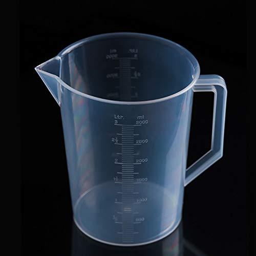 - Plastic Volumetric Beaker Container Measuring Cup Tool,Transparent Kitchen Laboratory Plastic Graduated Volumetric Beaker (1000ML/2000ML/3000ML/5000ML)
