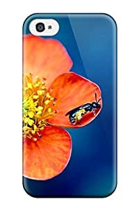 Fashion Tpu Case For Iphone 4/4s- Pollen Overdose Defender Case Cover