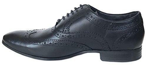 Ikon Anderson Schwarz Leder Herren Formal Oxford Brogue Schuhe