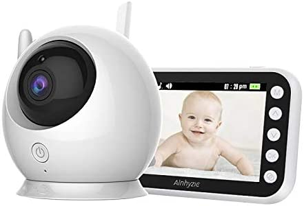 HKD Video Vigilabebés Pantalla LCD de 4,3 Pulgadas Comunicación Bidireccional Inteligente Bebé Monitor con Sensor de Temperatura