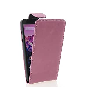 KCASE Flip Leather Pouch Case Cover For LG Google Nexus 5 Hotpink