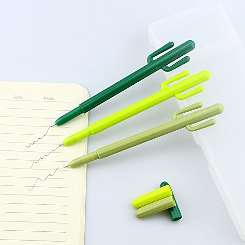 12 pcs/Lot Green Cactus Gel pen Cute pens caneta escolar for writing Stationery Office accessories school
