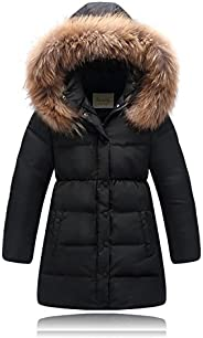 Seeduck Big Girls' Winter Parka Down Coat Puffer Jacket Padded Overcoat with Fur