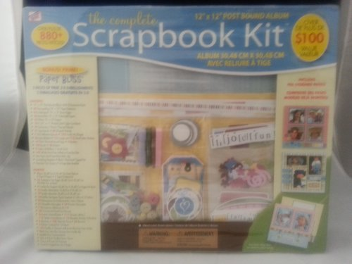 The Complete Scrapbook Kit, 12x12 Post Bound Album and Embelishments ()