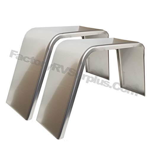 ToughGrade 2-Pack Aluminum Smooth Flat Top Fender 10'' X 36'' X 18'' by ToughGrade