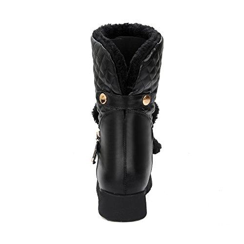 Show Shine Womens Stivali Da Neve Con Tacco Nascosto Con Fibbia Alla Caviglia