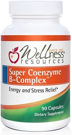 Super Coenzyme B Complex - Highly Absorbable Coenzyme B Vitamins + MethylFolate for Energy, Stress, Hair (90 Capsules)