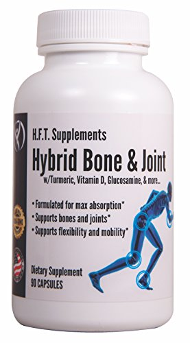Glucosamine Chondroitin with MSM Turmeric Curcumin Boswellia Frankincense Vitamin D Joint Support by H.F.T. Supplements | Arthritis Pain Relief for Hip Back Hands & Knees Anti-Inflammation Antioxidant