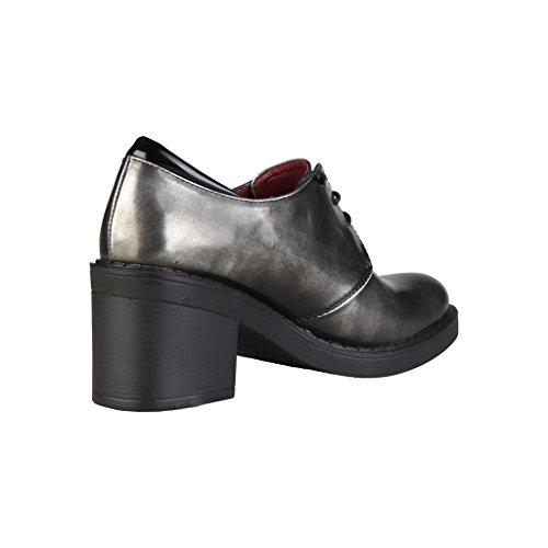 de Ana Lublin Zapatos Plateado Cordones B8TqYUw