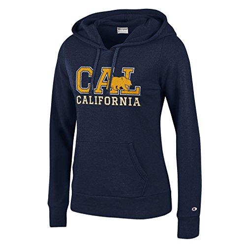 Champion NCAA California Golden Bears Women's University Fleece Hoodie, Medium, Navy - College Team Gear