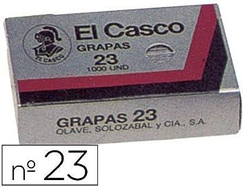 Grapas EL CASCO 23/6 Galvanizadas, Caja x30 Cajitas