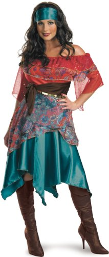 Disguise Adult Bohemian Babe, Tourquoise/Red/Blue, Medium (8-10) Costume