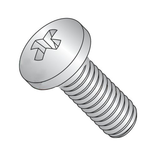 M5-0.8 x 16 mm Machine Screws/Phillips/Pan Head/18-8 Stainless Steel/DIN7985A (Carton: 1,000 pcs)